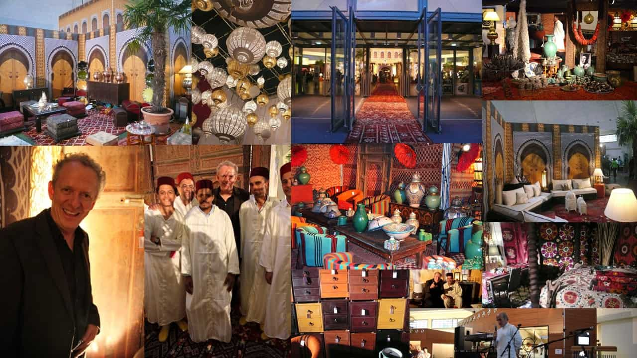 """Eindrücke der Ausstellung """"Trésor de Marrakech"""" in der Markthalle in Basel."""
